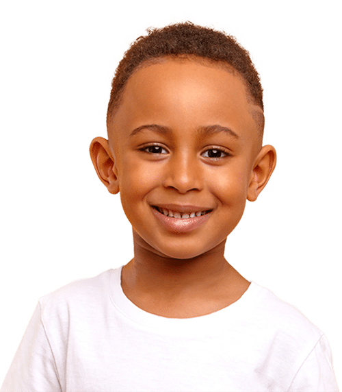 boy at drop-in childcare center serving Washington and Texas