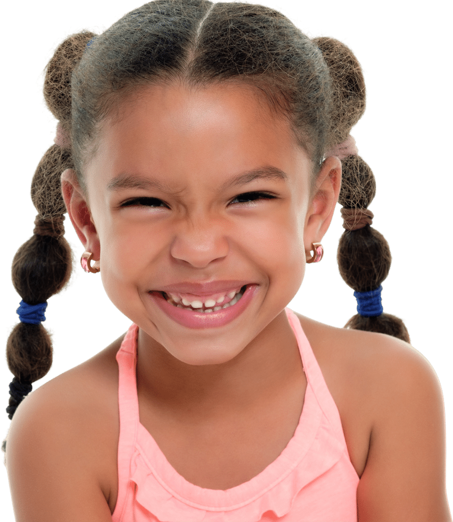 Smiling girl at Drop-in childcare center serving Washington and Texas