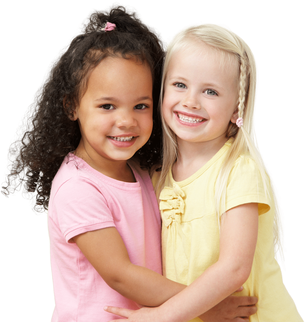 2 Girls at drop-in childcare center serving Washington and Texas